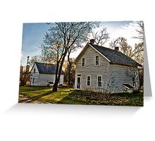 Pioneer Homes Greeting Card