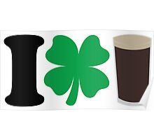 I Love Guiness Poster