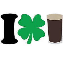 I Love Guiness Photographic Print