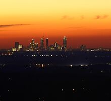 Atlanta Skyline Sunset by John Zawacki