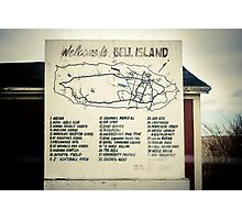 Welcome to Bell Island Photographic Print