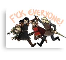 Villain Team-up! Canvas Print