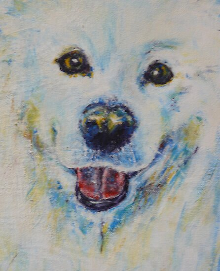 white dog by christine purtle