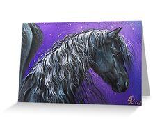 Night Pegasus Greeting Card