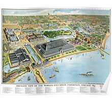 1893 Map of Chicago World's Fair Poster