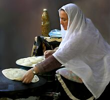 Baking pita bread by JudyBJ