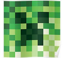 Mosaic 1483 - Minecraft Creeper Inspired Poster