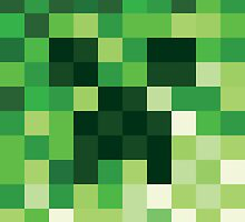 Mosaic 1483 - Minecraft Creeper Inspired by Carl Huber