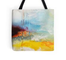 Yellow Blue Abstract Art Print Tote Bag