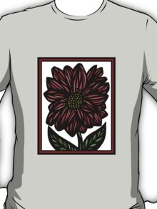 Nullifidian Flowers Red White Black T-Shirt