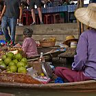 Damner Saduak floatting market by Cvail73