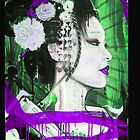 Geisha Phone Case (Purple & Green) by Tim Miklos