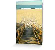 The Beach Stairs Greeting Card
