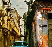havana street scene by opiumfire