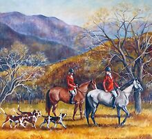 Mountain Hunt Hounds and Horses 2 by JKHowsarePearl