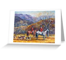 Mountain Hunt Hounds and Horses 2 Greeting Card