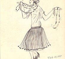 Flapper Girl   Retro 1950's by Rosalie Scanlon