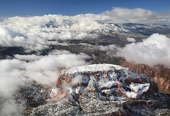 Snow on Kolob by Randy Weekes