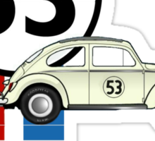 Herbie 53 VW bug beetle Sticker