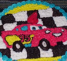 Mc Queen Cars in Birthday Cake by warustudio