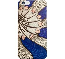 Blue Faces Mandala iPhone Case/Skin