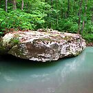 A Simple Beauty... Rock, and Water ~ Dripping Spring, Arkansas by NatureGreeting Cards ccwri
