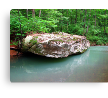 A Simple Beauty... Rock, and Water ~ Dripping Spring, Arkansas Canvas Print