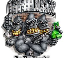GRILLAZ (Gorillas In Da Hood) by LinkArtworks