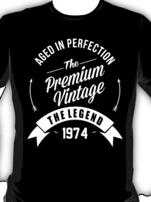 Vintage 1974 Aged To Perfection T-Shirt