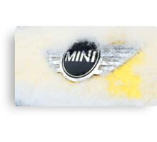 Mini Cooper with snow Canvas Print