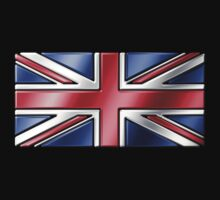 British Union Jack Flag 2 - UK - Metallic by graphix