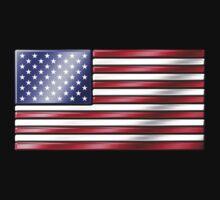 American Flag 2 - USA - Metallic by graphix
