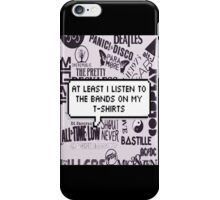 bands on my t-shirt iPhone Case/Skin
