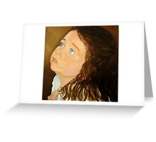 Portrait of Anna  - Oil Painting Greeting Card