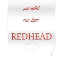 Redhead Express T-shirt Poster