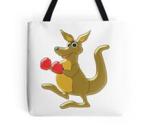 Boxing Kangaroo Design Tote Bag