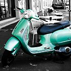 Green vespa by Rosina  Lamberti