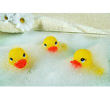 Bath Buddies Photographic Print