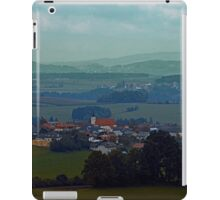 Cloudscape with some rural panorama beyound | landscape photography iPad Case/Skin