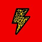 Leopard Print Lightning Bolt by jezkemp