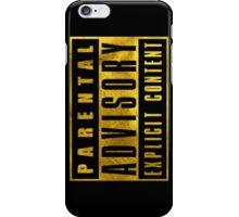 Explicit Content. GOLD VERSION iPhone Case/Skin