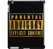 WARNING - GOLD VERSION iPad Case/Skin