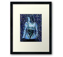 Lady in Waiting - Linocut Framed Print