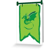 Banner standard with green dragon Greeting Card