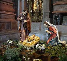 Saint Mary, Jesus and Saint Joseph in Jerónimos Monastery by silvianeto
