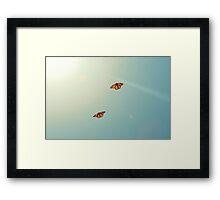 Monarch Sky Love Framed Print
