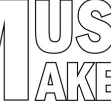 White Music Makers Sticker