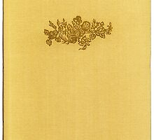 Vintage book cover with flower bouquet by Colorello