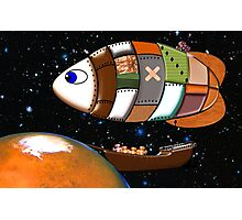 Martian Navy Airship on Patrol all products Photographic Print