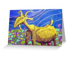 232 - PICASSO'S NANNY GOAT - DAVE EDWARDS - COLOURED PENCILS -  2008 Greeting Card